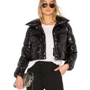 Revolve LPA black cropped puffer jacket
